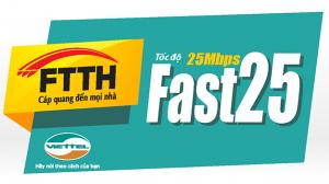 Goi cuoc Viettel Fast 25 Mbps